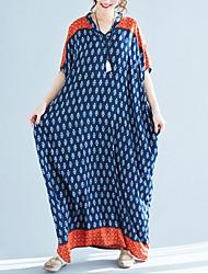 baratos -Mulheres Solto balanço Vestido Decote V Longo