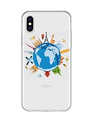 billige -Etui Til Apple iPhone X / iPhone 8 Plus Mønster Bagcover Tegneserie / Byudsigt Blødt TPU for iPhone X / iPhone 8 Plus / iPhone 8