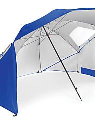 economico -Ombrello / Igloo / Igloo da spiaggia Singolo Tenda da campeggio Esterno Resistente ai raggi UV, SPF35 per Spiaggia / Campeggio / Escursionismo / Speleologia 1500-2000 mm Oxford 240*240*200 cm