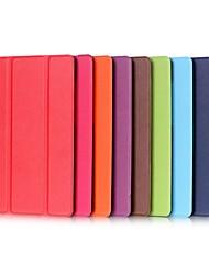 Недорогие -Кейс для Назначение SSamsung Galaxy Tab S2 9.7 / Tab E 9.6 со стендом / Флип Чехол Однотонный Твердый Кожа PU