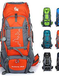 Недорогие -80+5 L Рюкзаки / Заплечный рюкзак - 3D-панель На открытом воздухе Походы, Путешествия Силиконовые Зеленый, Синий, Темно-синий