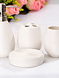 cheap -Bathroom Accessory Set New Design / Multifunction Contemporary Ceramic 4pcs - Bathroom Single