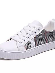 billige -Dame Sko Kanvas / PU Sommer Komfort Sneakers Flade hæle Rund Tå Hvid / Beige