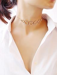 economico -Per donna Girocolli - Di tendenza Oro, Argento 30 cm Collana 1pc Per Feste, Fidanzamento, Regalo