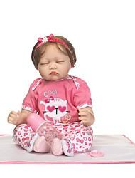 billige -NPKCOLLECTION Reborn-dukker Babypiger 24 inch Silikone - Nyfødt Gave Håndlavet Børnesikker Ikke Giftig Tippede og forseglede negle Børne Pige Legetøj Gave