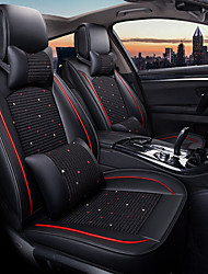 cheap -ODEER Car Seat Cushions Seat Covers Black Textile Common for universal All years All Models