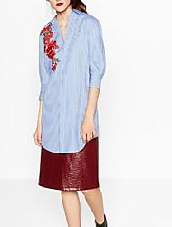 economico -Camicia Per donna A strisce A collo alto