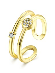 cheap -Women's Cubic Zirconia Band Ring - Gold Plated Fashion Adjustable Gold / Rose Gold For Daily / Evening Party