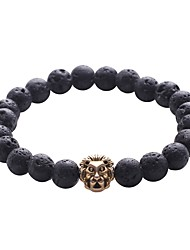 cheap -Men's Strand Bracelet Hologram Bracelet Bracelet - Vintage, Natural, Fashion Bracelet Black For Gift Daily