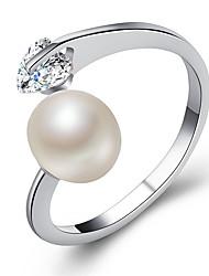 abordables -Couple Zircon Couple de Bagues / Bague de fiançailles - Imitation de perle, Alliage Cœur Mode, Elégant réglable Or / Argent / Or Rose Pour Mariage / Valentin
