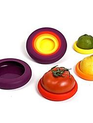 abordables -4pcs silicone alimentaire huggers quatre tailles casquettes garder les fruits frais économiseur de cuisine cuddlers