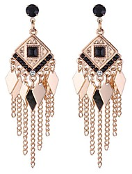 cheap -Women's Long Drop Earrings - Rhinestone Vintage, Fashion Black / Red / Blue For Daily / Date