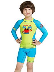 economico -Da ragazzo Muta da sub Protezione solare UV, Asciugatura rapida, UPF50+ Nylon / Elastene Manica lunga Costumi da bagno Abbigliamento mare Scafandri / Top sottomuta Collage Nuoto / Snorkeling / Sport