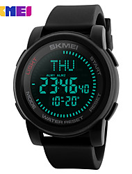 cheap -SKMEI Men's Sport Watch / Digital Watch Chinese Calendar / date / day / Water Resistant / Water Proof / Noctilucent Silicone Band Casual / Fashion Black / Large Dial