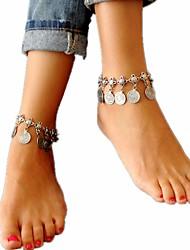 Недорогие -Жен. Ножной браслет - Дамы, Винтаж, Мода Бижутерия Серебряный Назначение Праздники Бикини