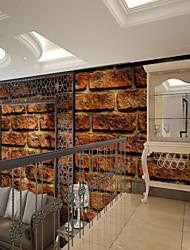Недорогие -красная кирпичная стена шаблон пользовательские настенные покрытия 3d настенные обои, подходящие для кухни спальни