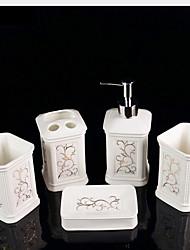 baratos -Jogo de Acessórios para Banheiro Novo Design / Fofo Modern Cerâmica 5pçs - Banheiro Solteiro (L150 cm x C200 cm)