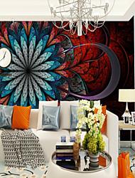 Недорогие -красные и синие крупные цветы индивидуальные настенные покрытия обои 3d фрески подходящие для спальни гостиная офис