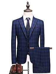 cheap -Men's Plus Size Suits-Houndstooth Notch Lapel / Long Sleeve