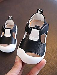 Недорогие -Мальчики Обувь ПВХ / Полиуретан Лето Обувь для малышей На плокой подошве для Белый / Черный / Желтый