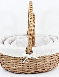 economico -Contenitore Semplice Semplici Legno / Non tessuto 1pc organizzazione del bagno