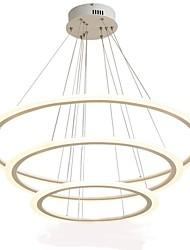 baratos -Oulm 3-luz Circular Lustres Luz Ambiente - Regulável, 110-120V / 220-240V, Dimmable Com Controle Remoto, Fonte de luz LED incluída