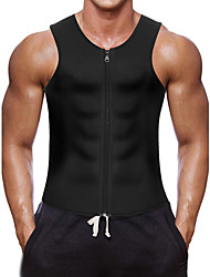 cheap -Waist Trainer Vest / Body Shaper / Hot Sweat Workout Tank Top Slimming Vest With Neoprene Zipper Weight Loss, Calories Burned, Tummy Fat Burner For Yoga / Exercise & Fitness / Gym Men's