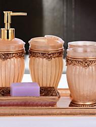 baratos -Jogo de Acessórios para Banheiro Criativo / Novo Design Modern Resina 6pcs - Banheiro Solteiro (L150 cm x C200 cm)