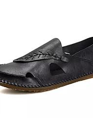 povoljno -Muškarci Cipele Eko koža Ljeto Udobne cipele Sandale Crn / Sive boje
