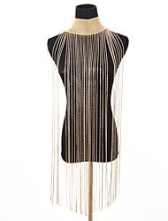 economico -Per donna Lungo Colletto - Importante, Vintage Oro, Argento 28 cm Collana 1pc Per Feste, Bikini