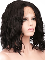 cheap -Crafts Wavy Bob Haircut Synthetic Hair Party / Women / Synthetic Black Wig Women's Short Lace Front / Yes