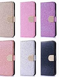 Недорогие -Кейс для Назначение Huawei P20 Pro / P20 lite Бумажник для карт / Стразы / со стендом Чехол Сияние и блеск Твердый Кожа PU для Huawei P20 / P10 Lite / P10