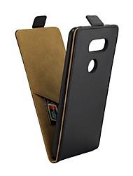 Недорогие -Кейс для Назначение LG V30 Бумажник для карт / Флип Чехол Однотонный Мягкий Кожа PU для LG V30