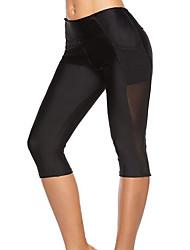 preiswerte -Damen Alltag Grundlegend Legging - Solide, Spitze Mittlere Taillenlinie