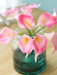 Недорогие -Искусственные Цветы 9 Филиал Классический / Односпальный комплект (Ш 150 x Д 200 см) Деревня / Простой стиль Калла / Вечные цветы Букеты на стол