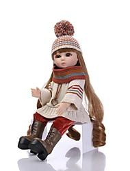 baratos -NPKCOLLECTION Boneca jogada na bola / Blythe Doll Menina do país 18 polegada Silicone de corpo inteiro / Vinil - Olhos Castanhos de Implantação Artificial de Criança Para Meninas Dom