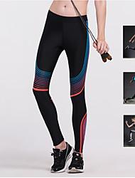 abordables -Mujer Pantalones de yoga - Amarillo, Rojo, Azul Deportes Arco iris Licra Medias / Mallas Largas / Leggings Running, Fitness Ropa de Deporte Transpirabilidad, Diseño ergonómico Elástico