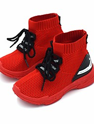 cheap -Boys' Shoes Mesh Fall & Winter Comfort Sneakers Walking Shoes for Kids White / Black / Red