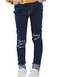 preiswerte -Kinder Mädchen Street Schick / Punk & Gothic Sport Druck Loch Baumwolle Jeans