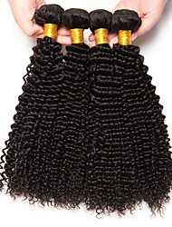 cheap -Peruvian Hair Kinky Curly Gifts / Cosplay Suits / Natural Color Hair Weaves 4 Bundles 8-28 inch Human Hair Weaves Soft / Hot Sale / Thick Natural Color Human Hair Extensions Women's