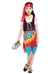 cheap -Cosplay Outfits Girls' Halloween / Carnival / Children's Day Festival / Holiday Halloween Costumes Rainbow Solid Colored / Halloween Halloween