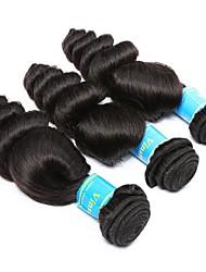 baratos -3 pacotes Cabelo Brasileiro / Cabelo Peruviano Ondulação Larga Cabelo Virgem Tecer 8-30 polegada Tramas de cabelo humano Fabrico à Máquina Melhor qualidade / 100% Virgem Natural Extensões de cabelo