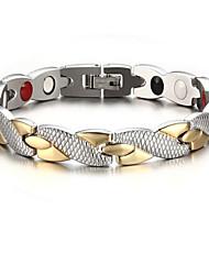 preiswerte -Herrn Ketten- & Glieder-Armbänder - Edelstahl, versilbert, vergoldet Kreuz Personalisiert, Modisch Armbänder Gold / Silber Für Party Alltag Normal