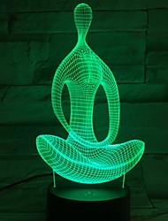 Недорогие -1шт 3D ночной свет Новый дизайн / Креатив / Безопасность <5 V