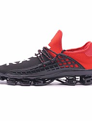 cheap -Unisex Running Shoes / Sneakers Rubber Walking / Jogging Nondeformable, Cushioning, Wearable Net Black / Black / White / Black / Red