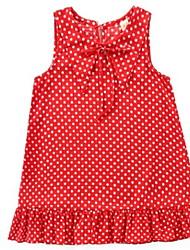 cheap -Kids Girls' Active Polka Dot Print Sleeveless Knee-length Dress / Cotton