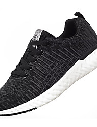 cheap -Men's Knit / Elastic Fabric Summer Comfort Athletic Shoes Running Shoes Color Block Black / Black / Red