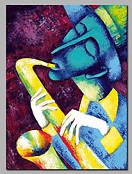 economico -Hang-Dipinto ad olio Dipinta a mano - Astratto / Ritratti Modern Tela