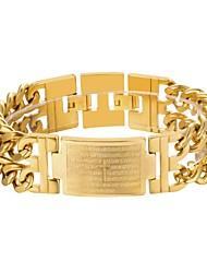 preiswerte -Herrn Dicke Kette Ketten- & Glieder-Armbänder - Edelstahl Kreuz Modisch Armbänder Gold / Schwarz / Silber Für Geschenk Alltag