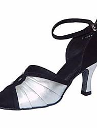 cheap -Women's Modern Shoes Satin Heel Slim High Heel Dance Shoes Silver / Black